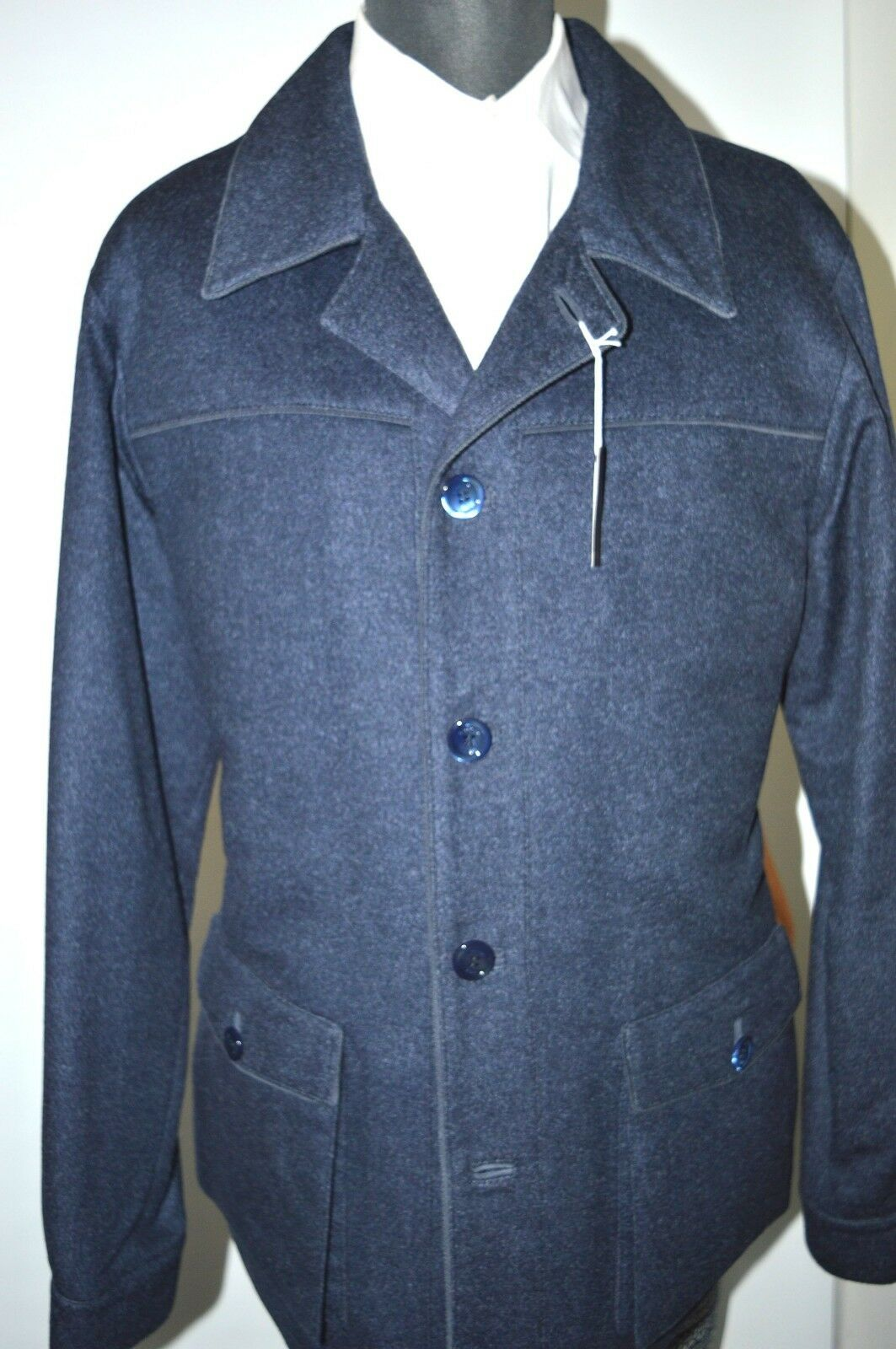 NEW 9850,00  STEFANO RICCI  Outwear Top Over Coat     Us L Eu 52 (G 28)