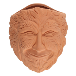 Terracotta Tree Man Green Man Wall planter Flower Pot Plant Pot Wiccan Pagan