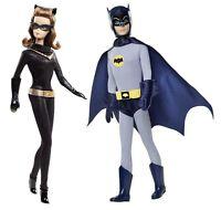 2013 Vintage Look Ken As Batman-& Barbie As Catwoman--in Hand (y0302 & Y0304)