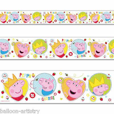 3.65m Cute Peppa Pig George Birthday Party Foil Banner Decoration
