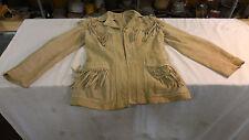 VTG  Suede Leather Fringe Jacket/ Coat - 7/8 - Made Mexico--NO NAME