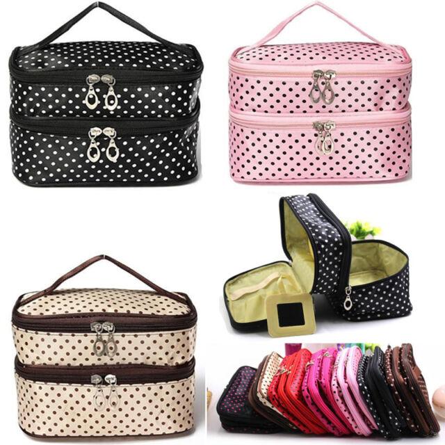Women Multifunction Travel Cosmetic Makeup Bag Toiletry Organizer Storage Case