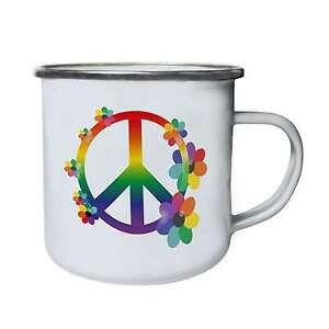 Peace-sign-hipster-Colours-No-War-Novelty-Retro-Tin-Enamel-10oz-Mug-q3e