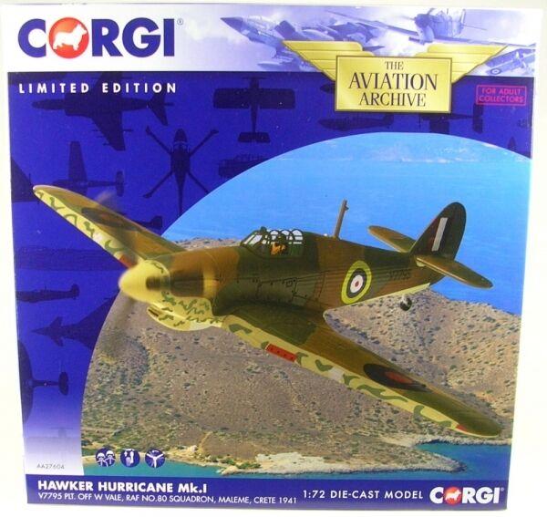 Hawker Hurricane Mk. I, v7795 plt. off w vale, raf No. 80 aigles, Maleme, CRETE