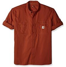 Carhartt Men/'s Shirt Force Ridgefield Short Sleeve Celestial Blue 4XL