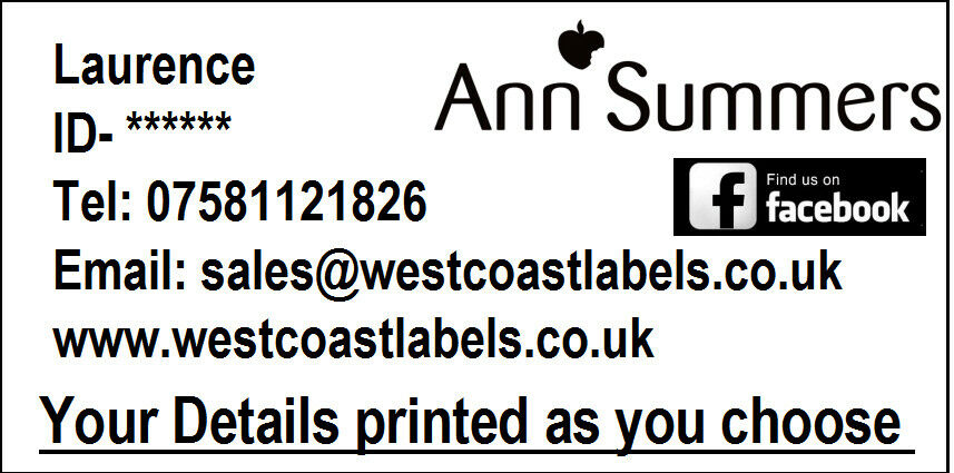 70mm x 36mm Personalised with your details 1000 LABELS Avon Consultants Labels