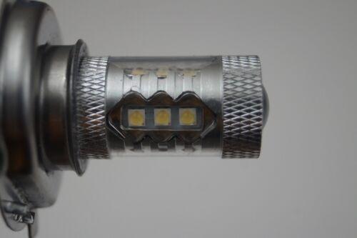 FITS AUDI A6 2001-2003 SET 2 x H7 CREE 16 LED HEADLIGHT BULBS FOG LIGHTS