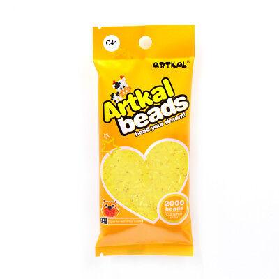 Original Artkal 2000stk Mini Bügelperlen 2,6mm C41 Pastell Gelb Fuse Beads Aromatischer Geschmack