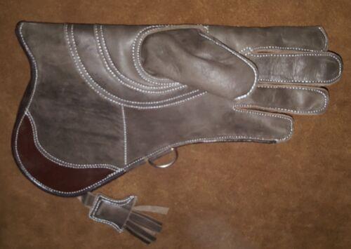 environ 33.02 cm Long 3 Couche, Seal Brown Falconry Glove Triple peau nubuck cuir 13 in