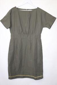 Ladies-COS-Khaki-Tunic-A-Line-Dress-Fashion-Short-Sleeves-Blogger-Size-16-42