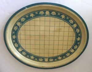 Tole-Toleware-Tin-Oval-Serving-Tray-18-x14-Painted-Dining-Theme