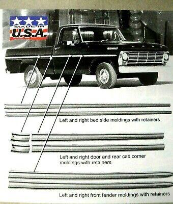 set of 5 Chevrolet El Camino New Bed Molding Trim Clips 73 74 75 76 77