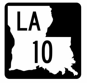 Louisiana-State-Highway-10-Sticker-Decal-R5738-Highway-Route-Sign