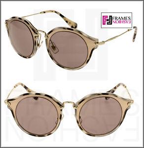 23f334546a11 MIU MIU NOIR 51S Matte Pink Rose Gold Sunglasses Cat Eye Women ...