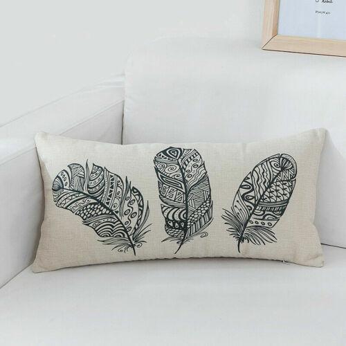 """18/"""" Cotton Linen Watercolor Peacock Pillow Case Sofa Cushion Cover Home Decor"""