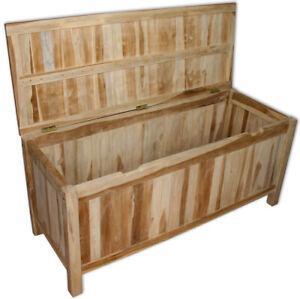 Kmh Teak Kissentruhe 120 Cm Auflagenbox Kissenbox Auflagentruhe