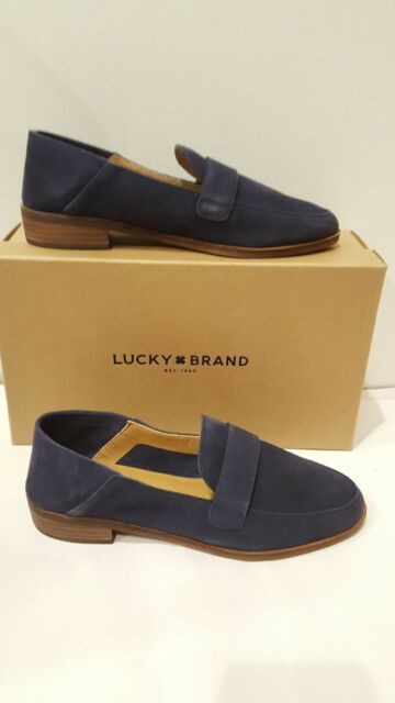 ba6540c5e35 Lucky Brand Chennie Morroccan Blue Oiled Suede Loafer Womens Sz. 7.5M New W