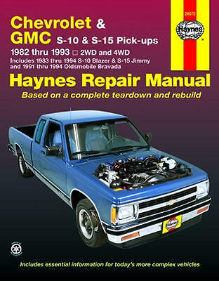 chevy s10 haynes repair manual 24070 chevrolet s15 blazer jimmy gmc rh ebay com 1994 chevrolet s10 repair manual 1994 chevy s10 repair manual pdf