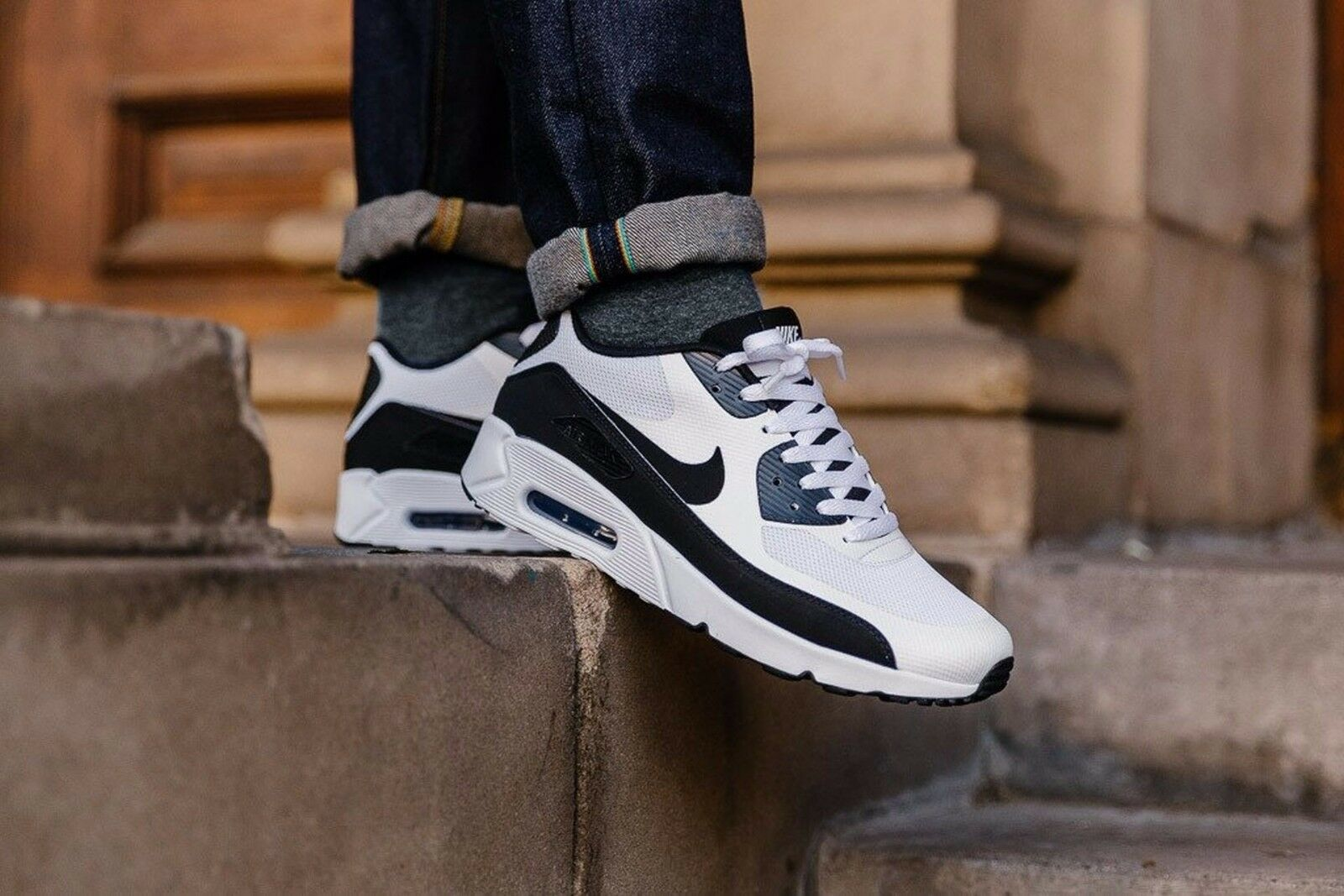 Nike Air Max 90 Ultra 2.0 Essential 875695-100 Mens Sz 9 White Black White