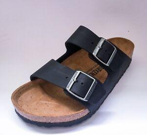 Classic Arizona Black Waxy Sandals Leather Narrow Birkenstock 0nOP8wXk