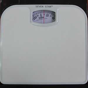 Easy Read white Scale Mechanical Personl Bathroom Weight Body Health Fitness Fat