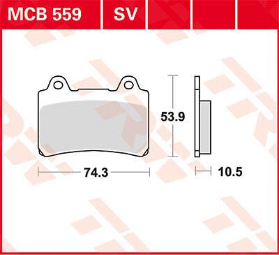 TRW MCB559 Yamaha XVZ 1300 TD Venture Royal 3JS 86-92 Plaquettes de frein Arr