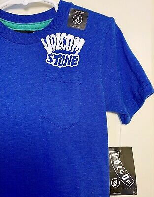 Volcom Toddler Boys 2T Short Sleeve Navy Blue Tee T-Shirt Cotton Cross Out NWT