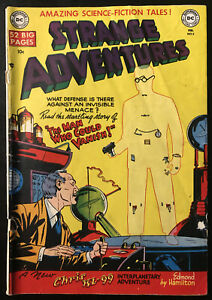 VINTAGE-Strange-Adventures-5-GOLDEN-AGE-DC-Comic-Book-1951-Sci-Fi-Invisible-Man