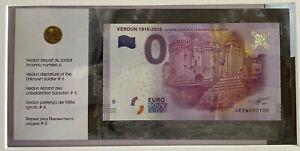 BILLET-0-EURO-VERDUN-1916-2016-ENCART-FRANCE-2016-NUMERO-100-100