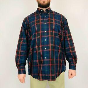 Vintage-Ralph-Lauren-Checked-Blake-Shirt-XL-Long-Sleeve-100-Cotton