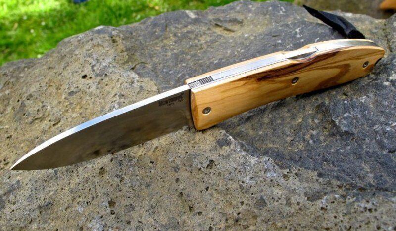 LionSteel Opera Olive D2 Stahl Olivenholz Taschenmesser Messer 8800UL