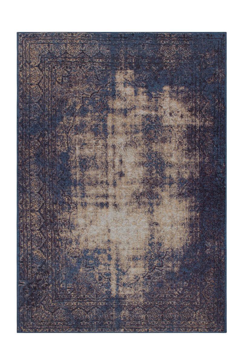 Aspect Use Tapis Modern Vintage Tapis Shabby Design Bleu 195x290cm