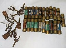 Lot Of 21 Cartridge Fuse Vintage Signal Corps General Electric Kirkman Holders