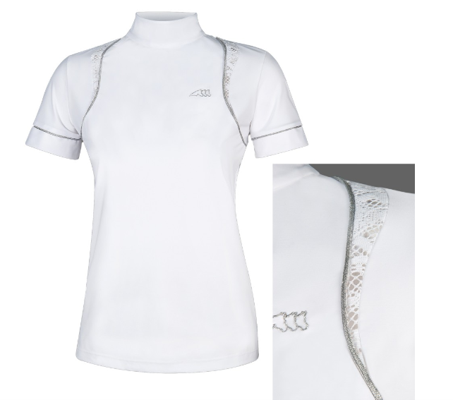 Equiline GINGER Frauen Comp Polo-Shirt Polo-Shirt Polo-Shirt S S Weiss FS 2019 5fbacd