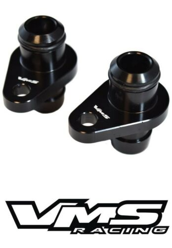 VMS BILLET PCV CRANKCASE BREATHER RE-ROUTE FITTINGS DURAMAX 2004-2010 6.6 BLACK