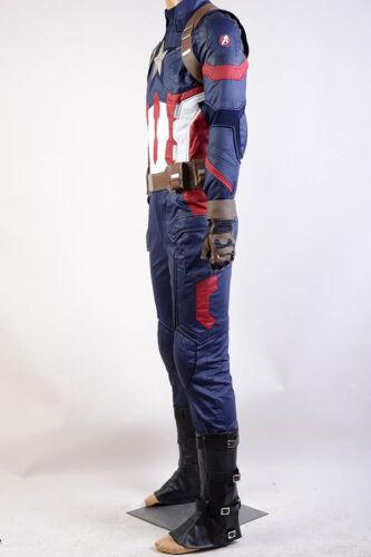 Captain America Civil War Steve Rogers Cosplay Costume Avengers Outfit Uniform