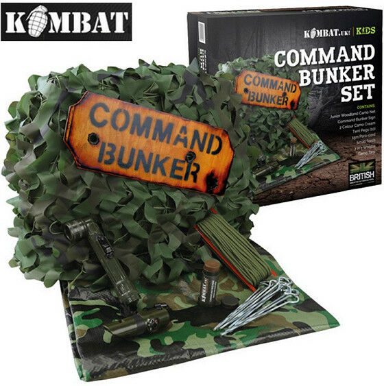Kids Army Boys Childrens Command Bunker Tent Den Camo Outdoor Net Play Camp Outdoor Camo Set 1c07a7