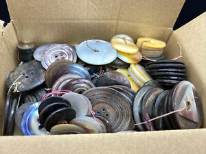 Large lot of 3.13 LBS of undorted Shell buttons.  Free Shipping!