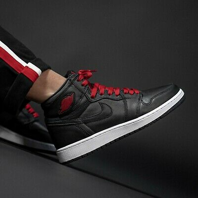 Nike Air Jordan 1 Retro High OG Black Satin Gym Red Men Women AJ1 Shoes  Pick 1 | eBay