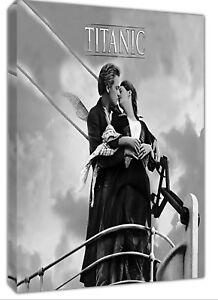 HonnêTe Titanic Film Romantique Bw Photo Print Sur Encadrée Toile Mural Art Maison Décoration-afficher Le Titre D'origine
