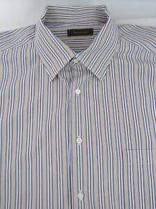 Recent-ERMENEGILDO-ZEGNA-Straight-Bottom-Multi-Color-Stripe-Shirt-3XB-Italy
