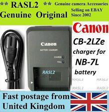 Genuine Original CANON  Charger, CB-2LZe , NB-7L PowerShot G10 G11 G12  SX30 iS,