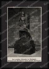 Eisener Wehrmann Stuttgart Ritter Schwert Schild Bildhauer Josef Zeitler 1916