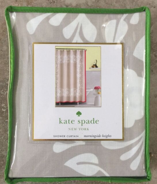 Kate Spade Morningside Heights Fabric Shower Curtain Cafe Au Lait Pink