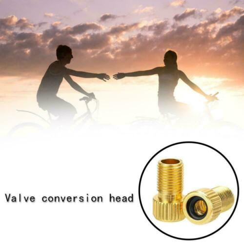 Bike Cycle Bicycle Pump Tube Presta to Schrader Valve Adapter Road G5D2