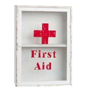 SALE-First-aid-Medizinschrank-Wand-33-13-47cm-weiss-Metall-W5Y0197-Clayre-amp-Eef
