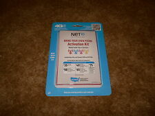 Net 10 Bring Your Own Phone Activation Sim Card Kit, Sim Cards New in Package