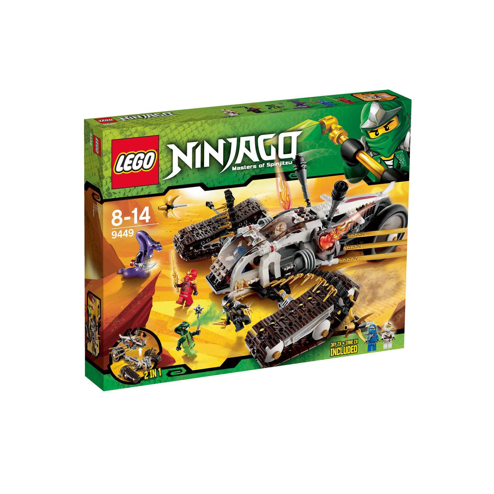 Lego Ninjago 9449 ultrallschall-Raider rareza nuevo embalaje original New