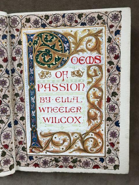 Poems Of Passion Ella Wheeler Wilcox Cheylesmore Press Illuminated Title