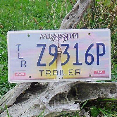 Echte Kennzeichen Von Mississippi (z9316p) Usa - Nummernschild Bracing Up The Whole System And Strengthening It